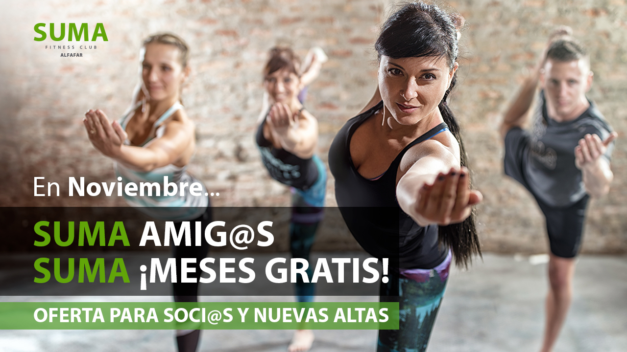 Gimnasio en Valencia - Alfafar - Oferta Noviembre - SUMA Amigos