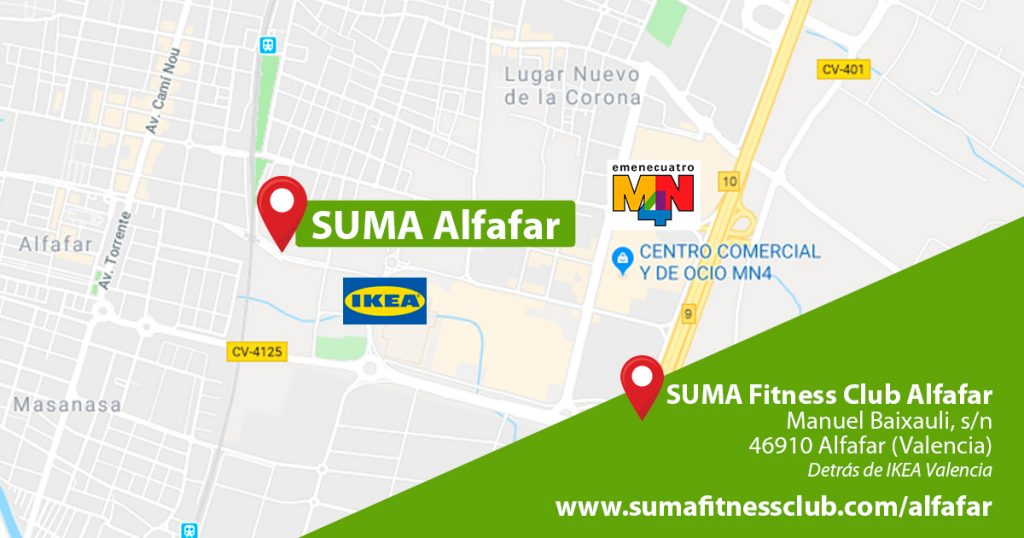 Dónde estamos | SUMA Fitness Club Alfafar