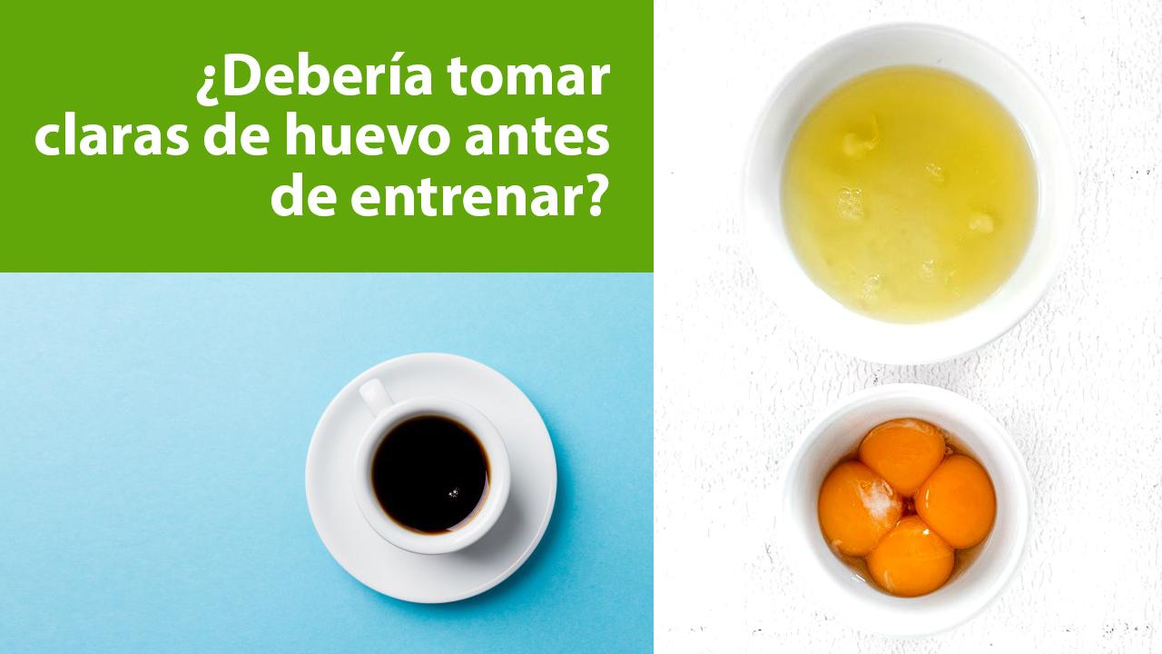 Claras de huevo y cafeína | Beneficios | Deporte y entrenamiento